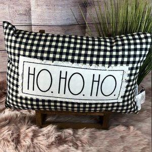 NWT Rae Dunn Ho Ho Ho Pillow